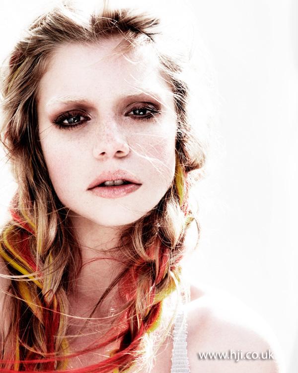 2013 coloured plaits hair