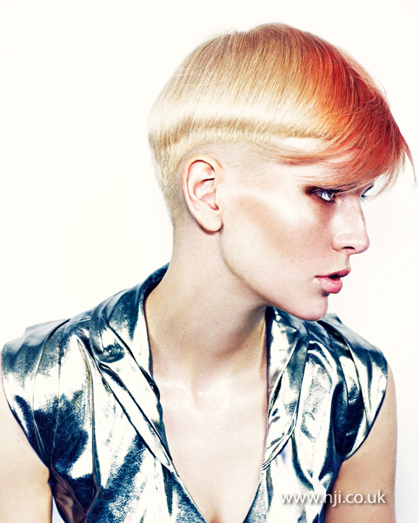 2013 orange fringe hair