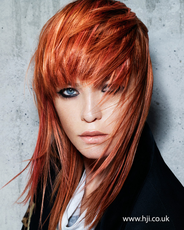 2013 redhead heavy layered fringe