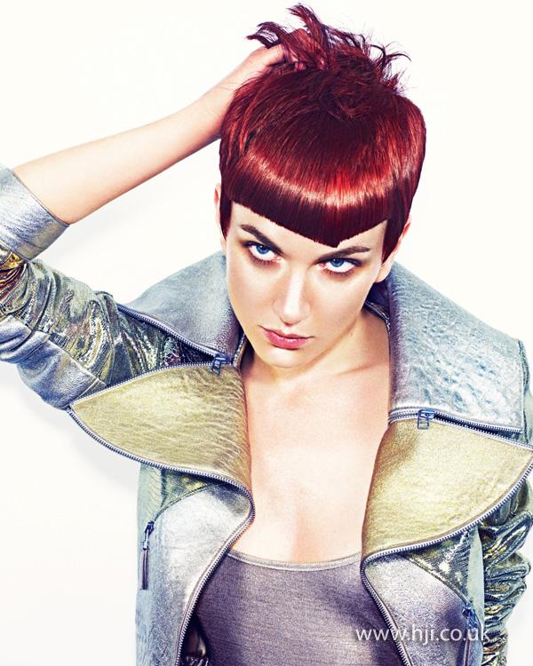 2013 short hair red
