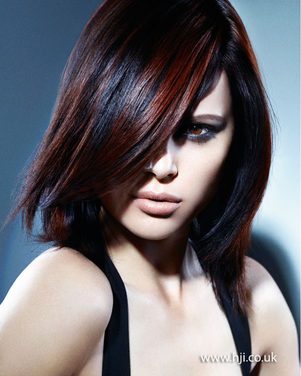 2013 smooth bob with rich highlights