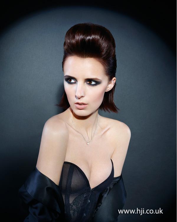 2013 smooth brunette glam quiff
