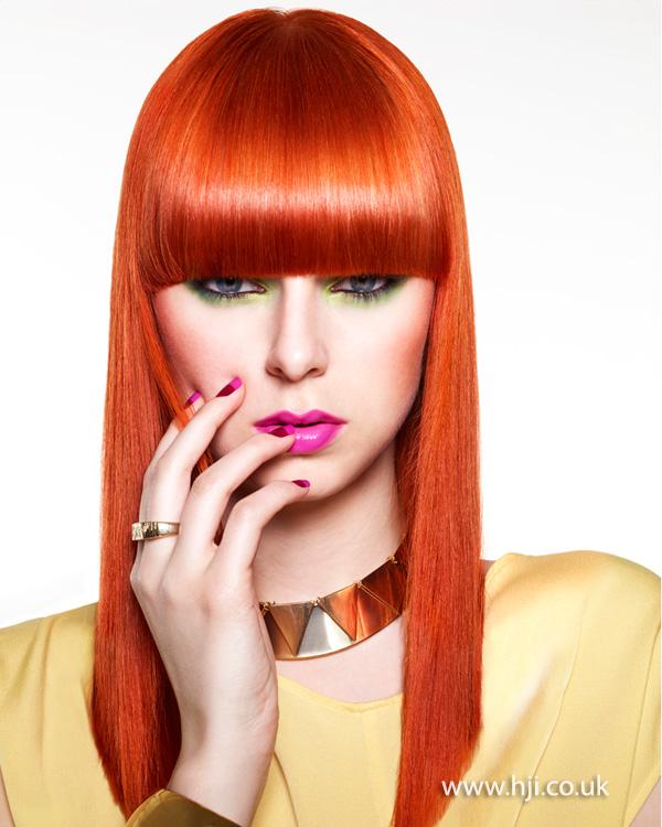 2013 super sleek redhead fringe