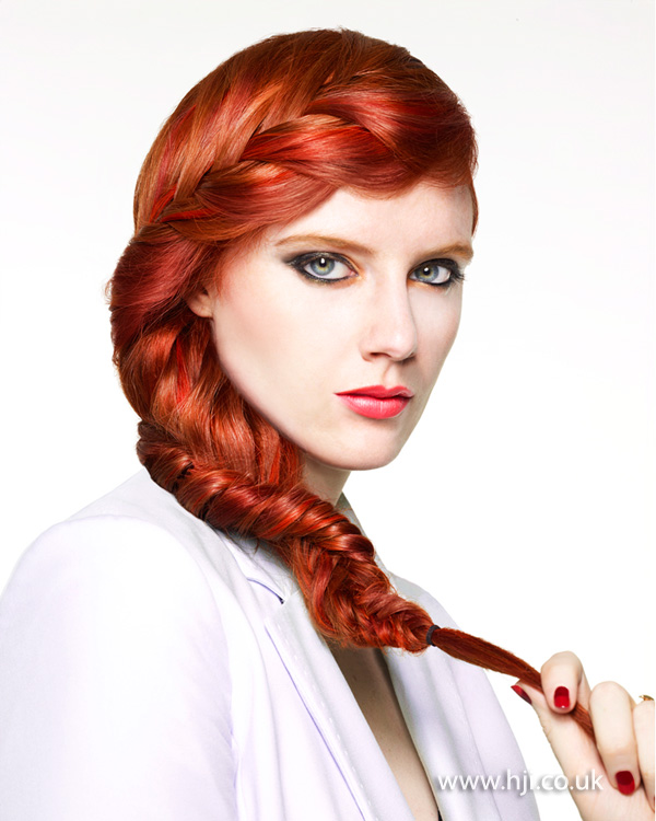 2013 tonal red twisted plait