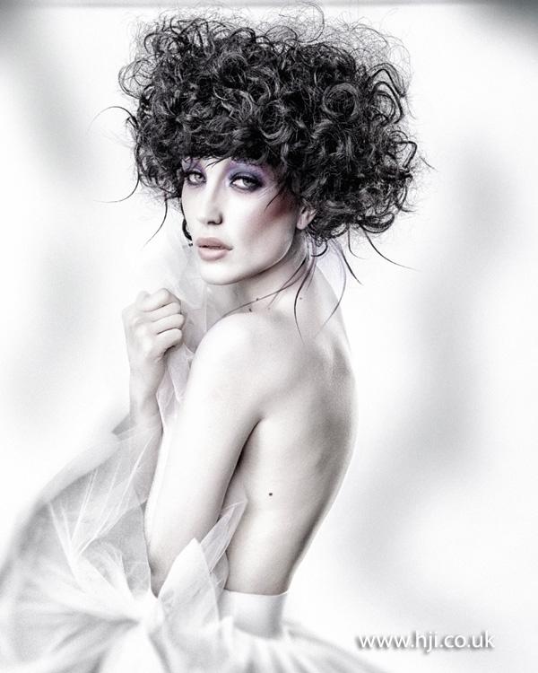 2013 volume curls updo