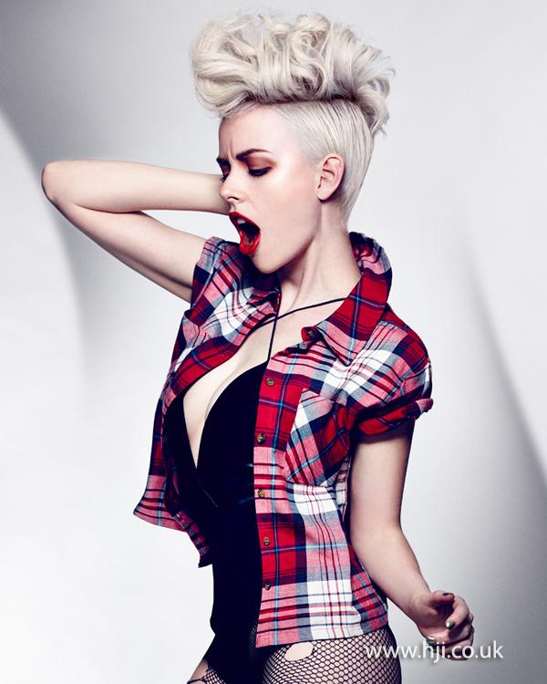 2014 blonde modern mohawk