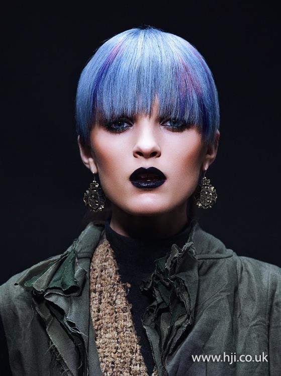 2014 blue short with fringe