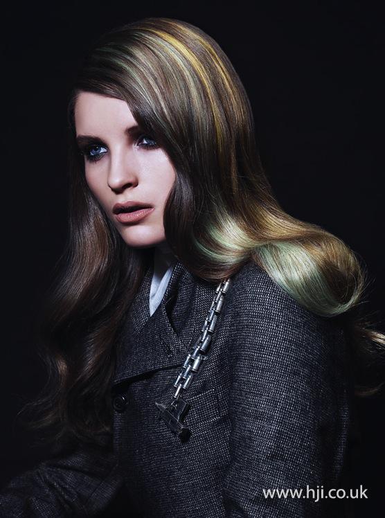 2014 mint yellow streaks brunette