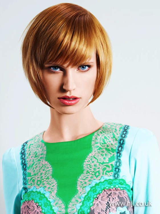 2014 smooth golden bob with fringe