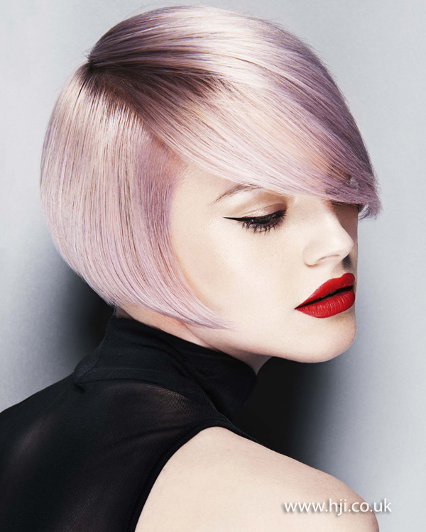 2014 smooth lilac side part bob