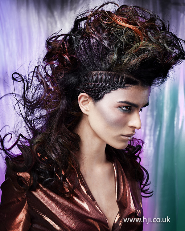 2014 colourful curls plaits texture