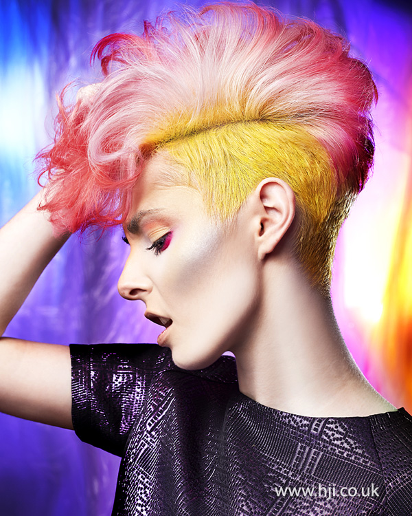 2014 pink ombre with yellow undercut