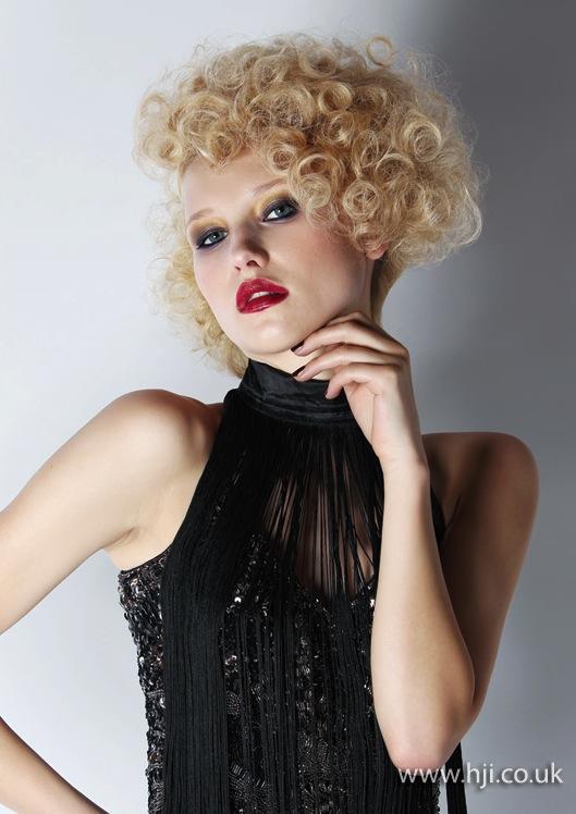2014 blonde tight curls mid length