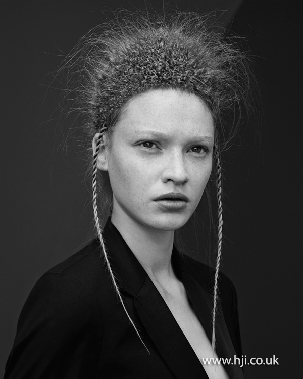 2014 avant garde look with plaits