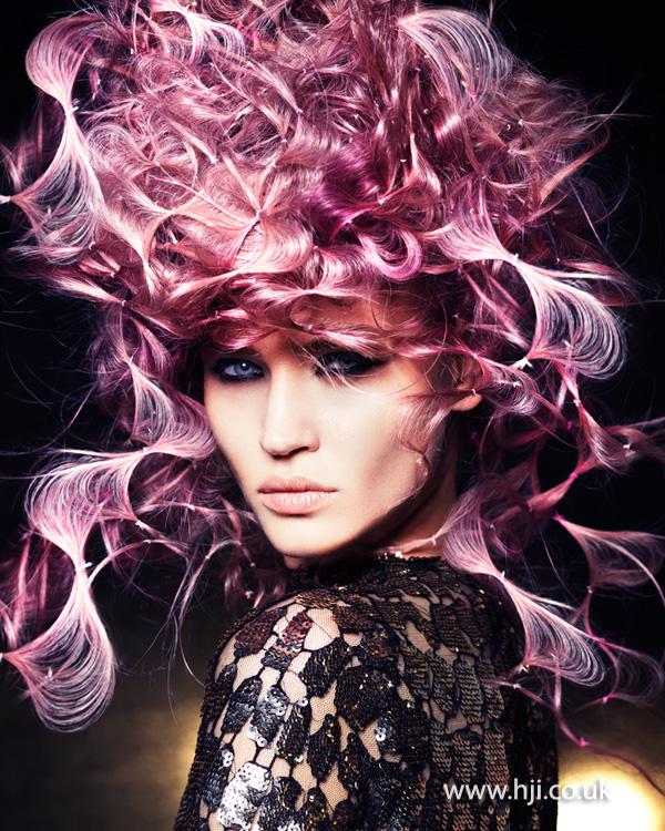 2014 avante garde look with pink web effect