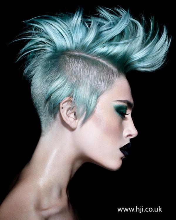 2014 punky turquoise mohawk