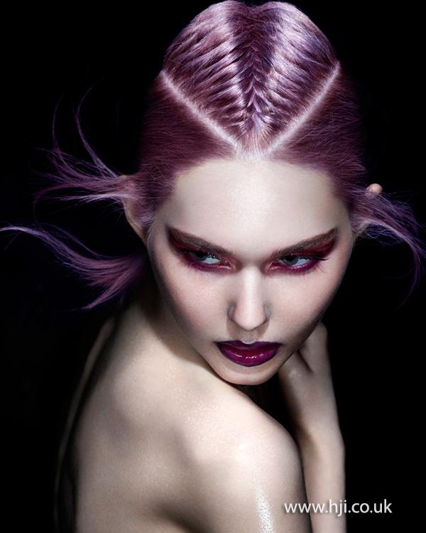2014 purple braided crown