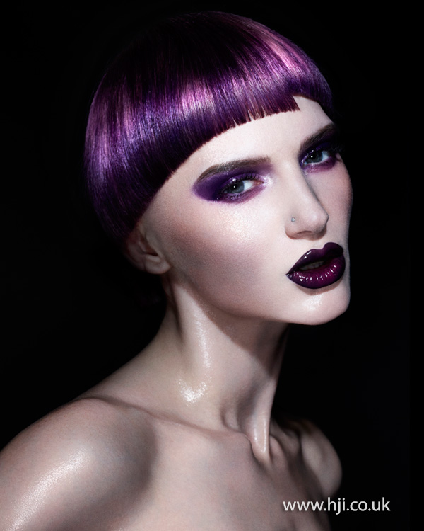 2014 smooth vibrant purple with graphic fringe