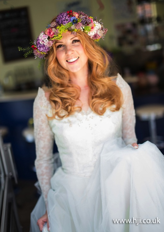 2015 bridal waves with floral crown
