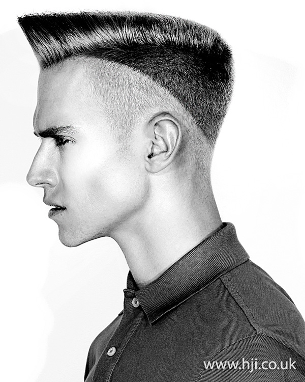2015 Flat top with dual clippered length at sides