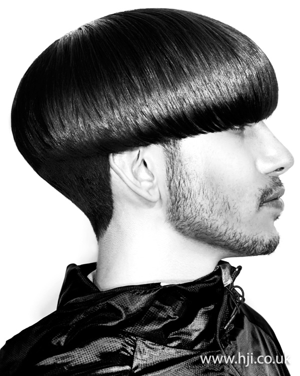 2015 bowl cut tapered at the nape