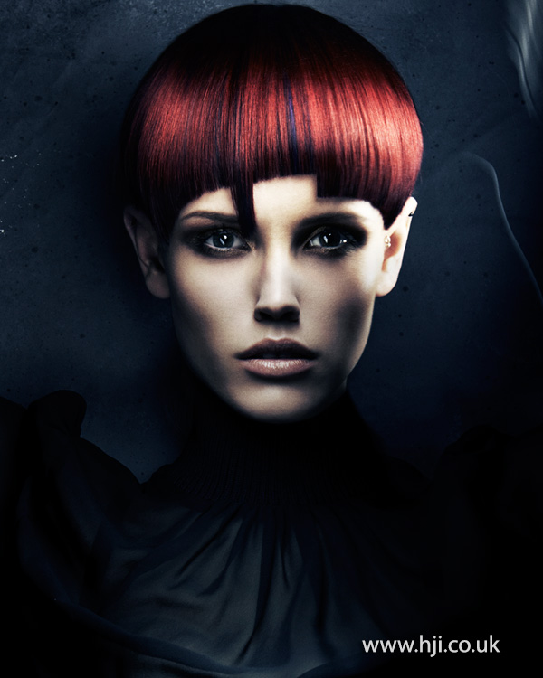 2015 beveled red stepped fringe