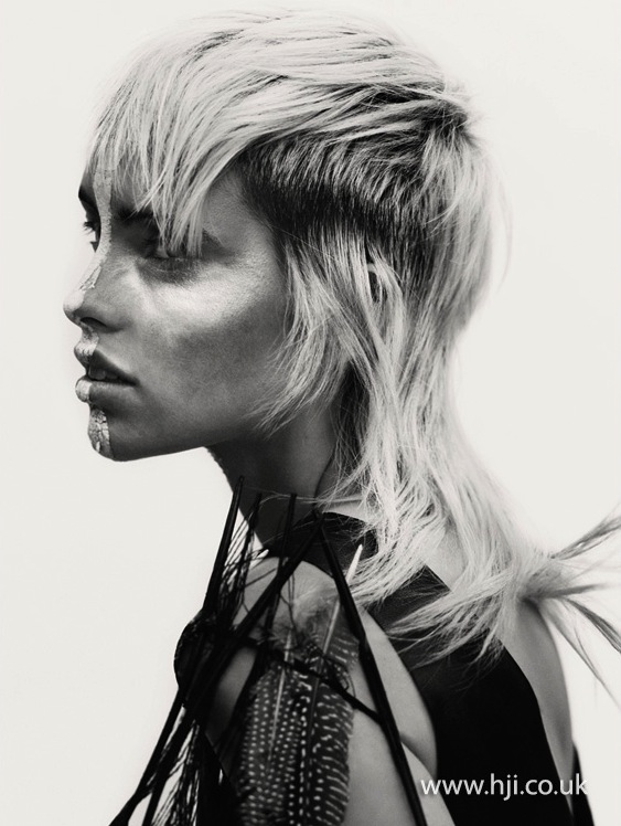 2015 blonde textured mullet