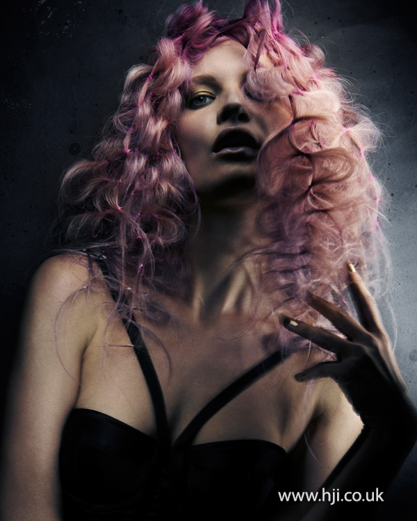 2015 candy pink textured waves