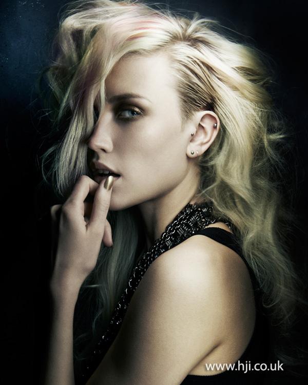 2015 punky blonde waves
