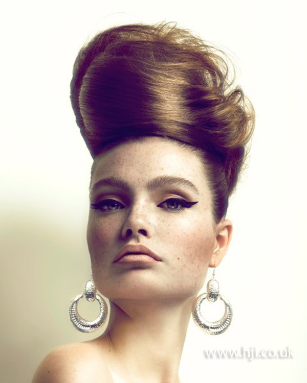 2015 smooth bouffant updo