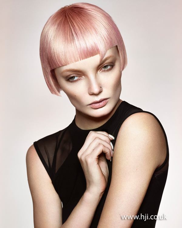 2015 baby pink bob hairstyle
