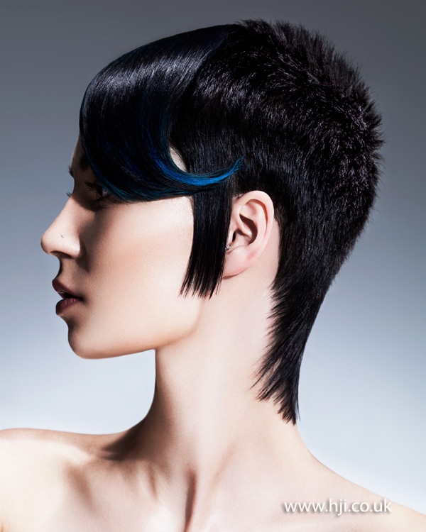 2015 black pixie cut with long fringe