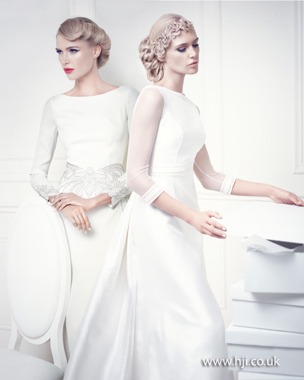 2015 blonde bridal updo ideas