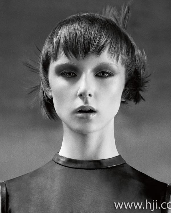 2015 brunette bob hairstyle with short fringe