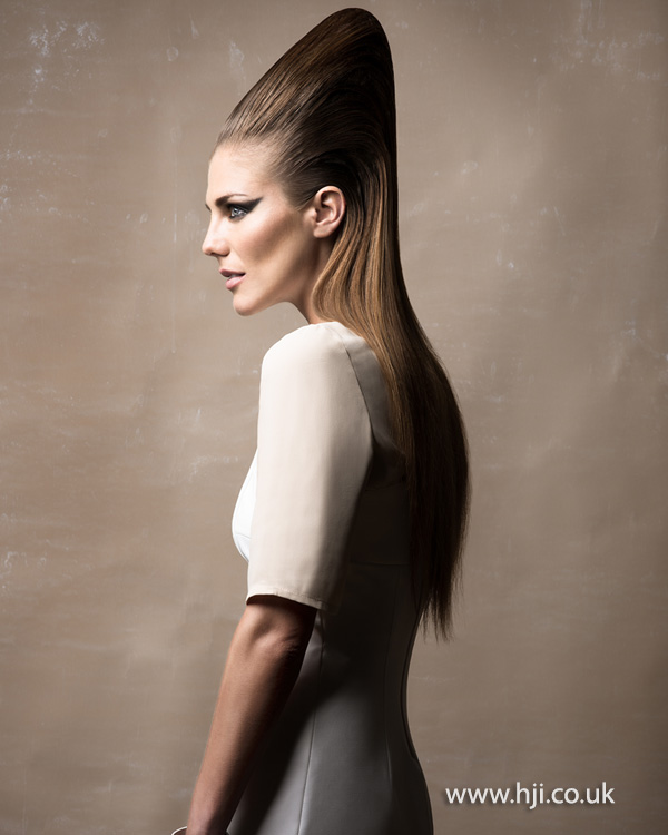 2015 exaggerated pointy beehive hairstyle