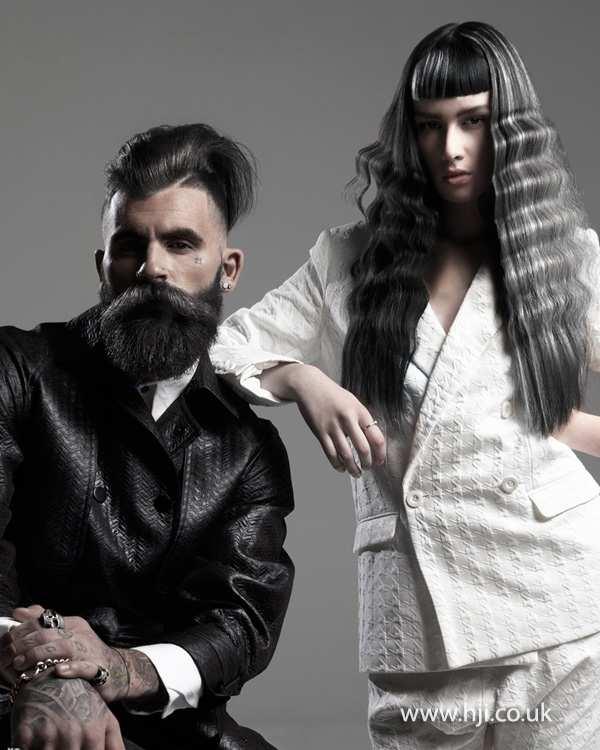 2015 long grey waves hair trend