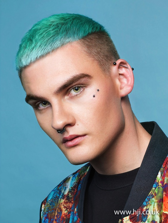 2015 mens turquoise blue hairstyle