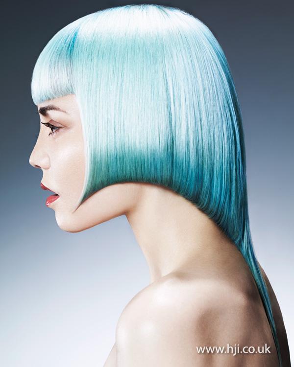 2015 pale blue bob hairstyle