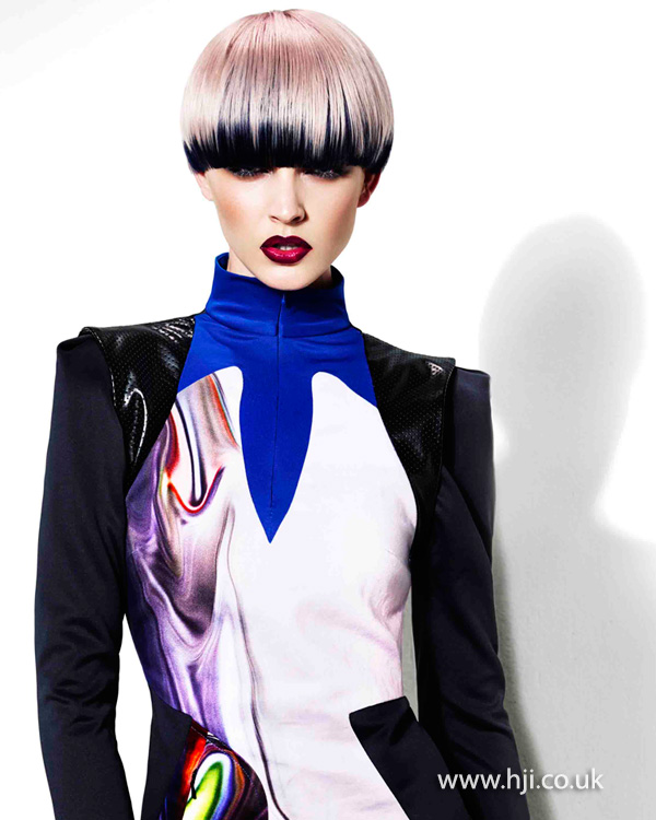 2015 pastel lilac pageboy hairstyle
