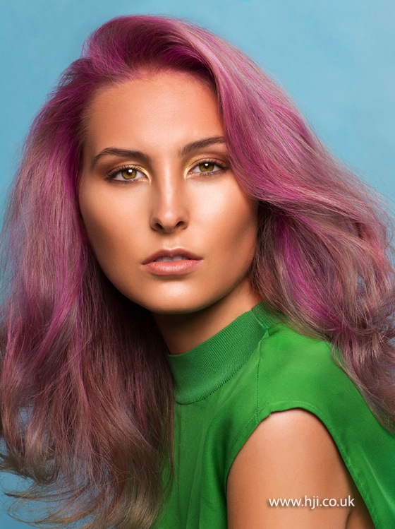 2015 pastel pink ombre hairstyle