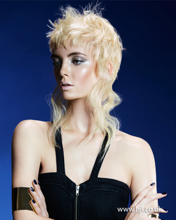 2015 peroxide blonde mullet hairstyle