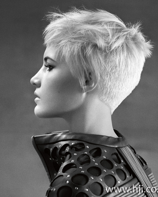 2015 peroxide blonde womens pixie crop hairstyle