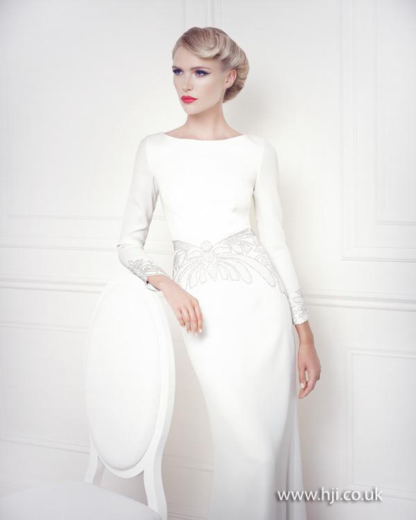 Retro bridal style side quiff