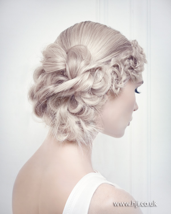 Romantic bridal updo from 2015