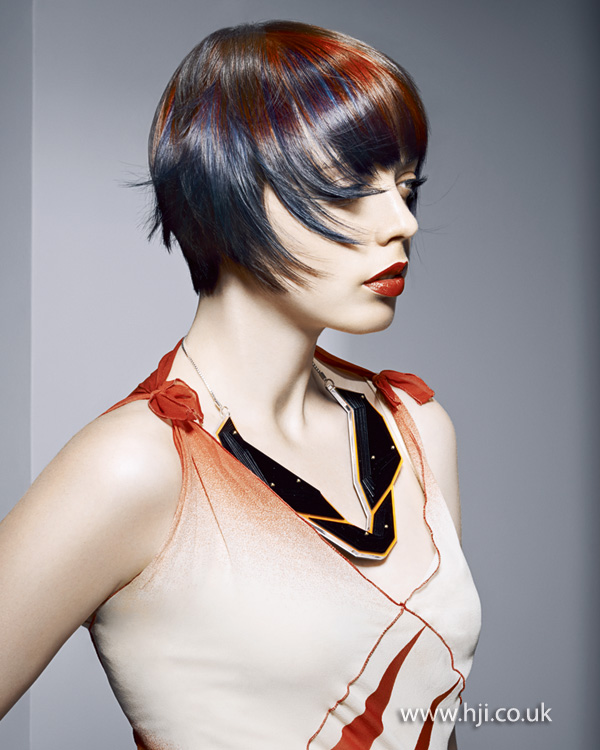 2015 smooth multicoloured bob hairstyle