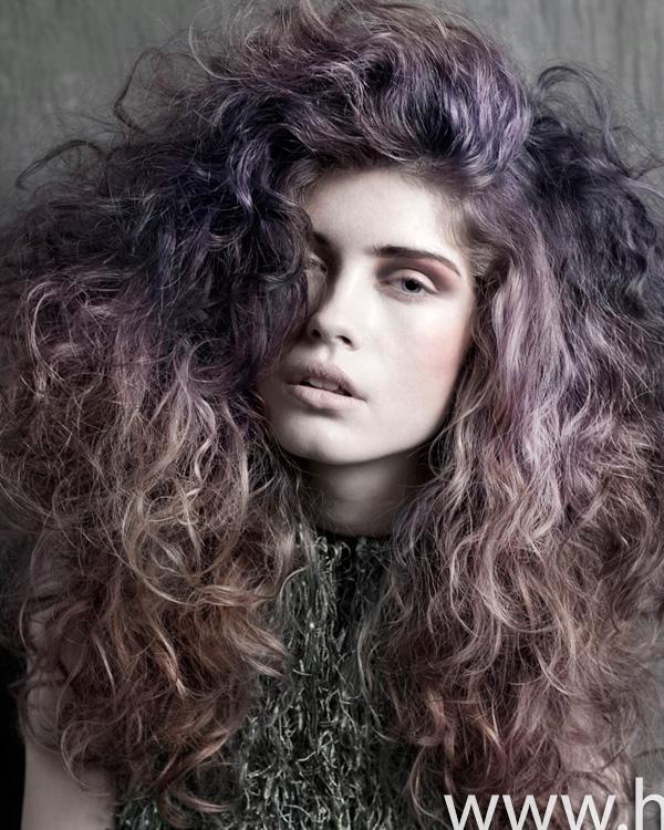 Purple ombre curls by Ria Kulik