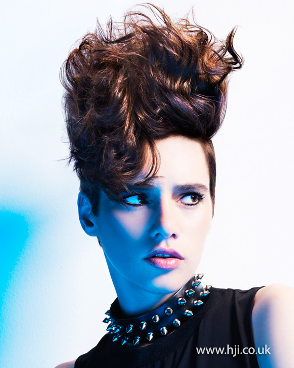 Brunette curly updo by Marcus King