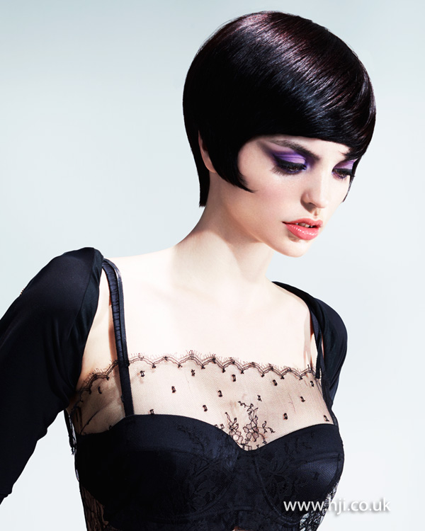 Sleek black bob by Jill Watkins-Wright