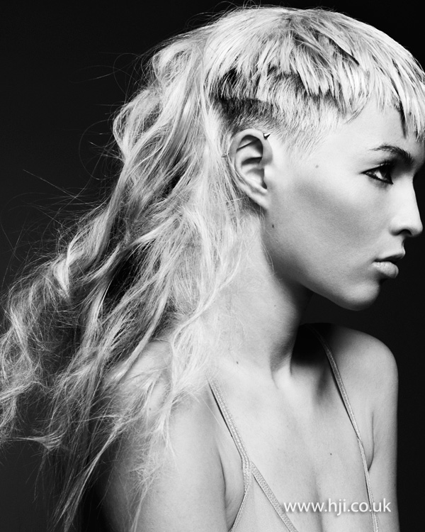 Tousled mullet cut with fringe by Rachelle Simmonds