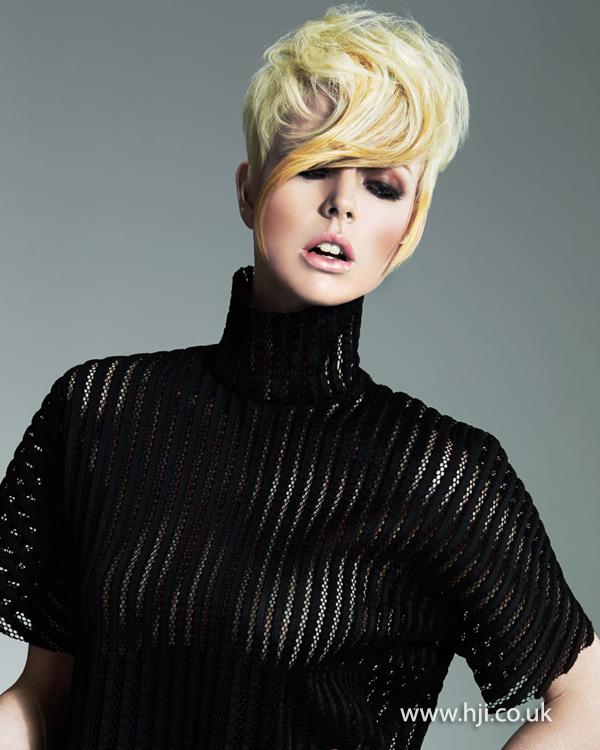 Blonde crop hairstyle by Melanie Taylor